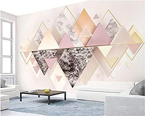 XHXI Papel tapiz mural nuevo 3D triángulo triangular mármol cristal TV pared 3D papel tapiz murales para TV fo Pared Pintado Papel tapiz Decoración dormitorio Fotomural sala sofá mural-350cm×256cm
