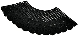 1 Pcs Embroidered Lace Hollow Shawl Embroidered Collar Short Style Small Shoulder Clothing Blouse Thin Style (Black)