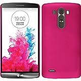 PhoneNatic Custodia Rigida Compatibile con LG G3 - gommata Rosa Caldo...