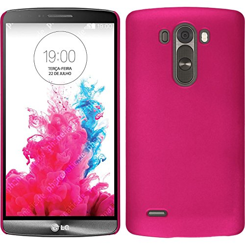 PhoneNatic Custodia Rigida Compatibile con LG G3 - gommata Rosa Caldo...