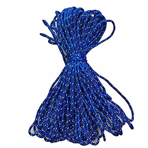 PPCERY 20m Dia.1.8mm Cuerda Reflectante Cuerda Cuerda Camping Camping Senderismo Tendedero Tendedero Cuerda de paracaídas Cuerda Deportiva al Aire Libre (Color : SPT7551BL)