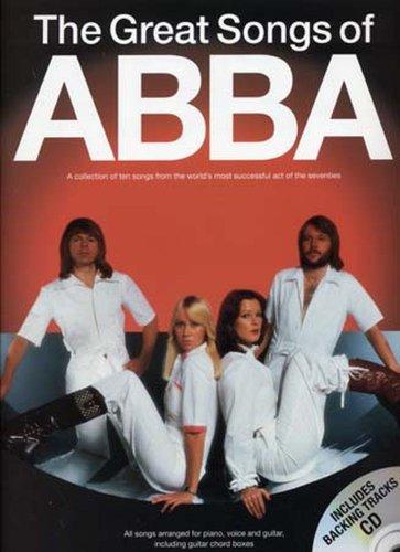 The Great Songs Of Abba (Book/CD. For Pianoforte, Voce e Chitarra