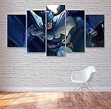 WKXZZS Tabla decoración Batma Comics Action Movie - 200x100cm Impresión Pinturas Murales Decor Dibujo con Marco Fotografía para Oficina Aniversario