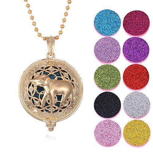 Collar De Aceite Esencial Collar De Aromaterapia Colorido Flor De Mariposa Árbol Esencial Aceite Difusor Collar Perfume Medallón Colgante-Mi