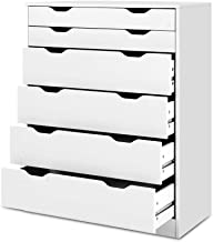 Artiss Chest of Drawers Wooden 6-Drawer Tall Boy Dresser Storage Bedroom Drawers, White