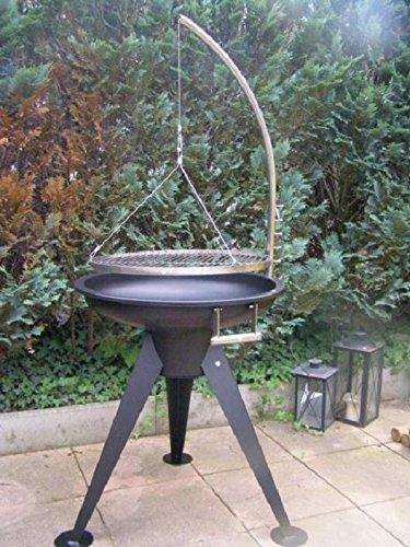 Unbekannt XXL BBQ Schwenkgrill Grill/Edelstahl/Feuerschale 65 cm/ ~ 60/ Grillrost 55 cm