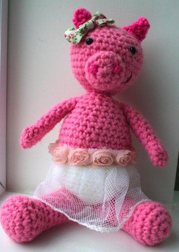 Cube Piggy Pig Amigurumi Pattern   500x356