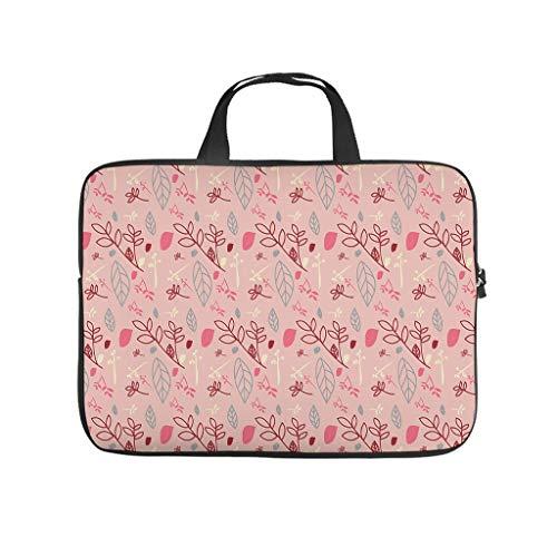 Bolsa para portátil con flores y plantas, resistente al agua, ideal para el trabajo, el negocio