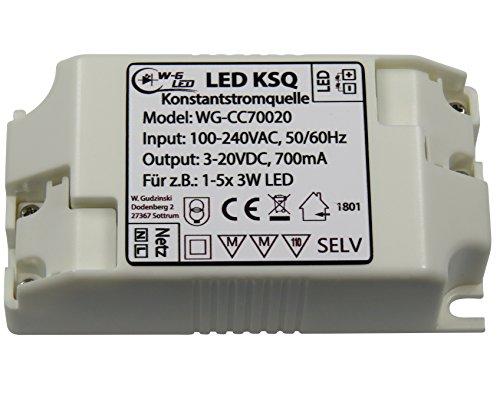 LED Konstantstromquelle|Treiber|Constant Current |700mA|3-20V|KSQ|z.B. 1-5x 3W