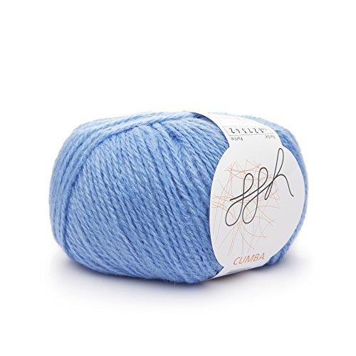 ggh Cumba Farbe 40 - himmelblau, 50g Wolle mit Alpaka, leichtes, warmes Handstrickgarn