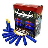 EKIND 100 Pcs 7.2cm TPR Waffles Soft Head Darts Refill Foam Bullet Compatible for Nerf Elite AccuStrike Guns(Blue)