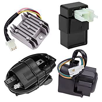 Ignition Coil 6 Pin CDI Regulator Rectifier Relay Kit for 150cc 200cc 250cc Engine Chinese ATV Quad