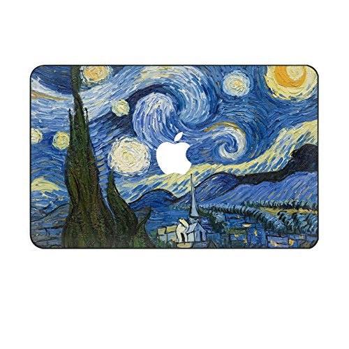 """Customized Famous Painting Series Vincent Van Gogh Starry Night Special Design Water Resistant Hard Case for Macbook Pro 13"""" with Retina Display (Model A1425/a1502)"""
