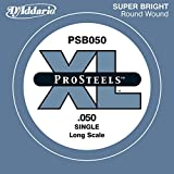 D'Addario ProSteels PSB050 - Cuerda individual para bajo, escala larga.050