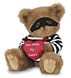 Bearington Lawless Lover Valentines Plush Stuffed Animal Teddy Bear with Heart, 10 inches