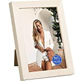 Tzowla 5x7 inch Picture Frame Made of Solid Wood High Definition PVC for Table Top Display and Wall Mounting Photo Frame-Oak