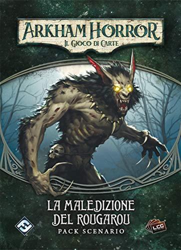 Asmodee- Arkham Horror Cartas – La maldición del Rougarou – expansión Juego de Mesa edición en Italiano (Fantasy Flight Games 9655)