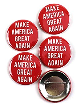 Make America Great Again Trump Political Pinback Buttons – 2.25 Inch Round – 5 Pack
