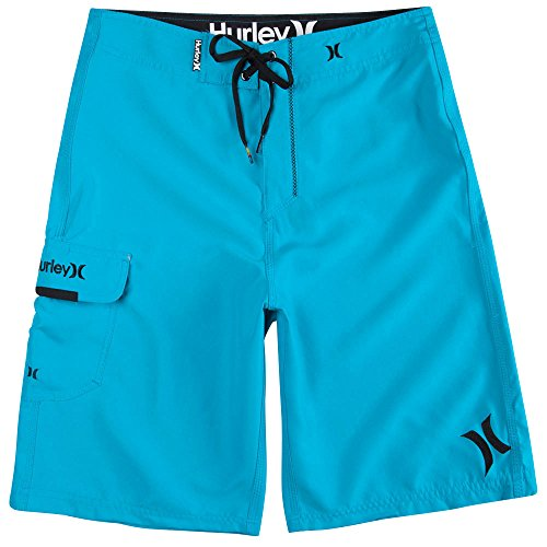 Hurley Men's One and Only 22 Inch Boardshort, Cyan/Hurley, 33