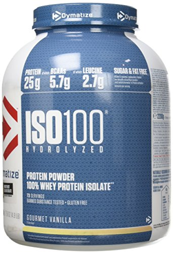 Dymatize ISO 100 Gourmet Vanilla 2,2kg - Hydrolysat de Protéines de Whey + Poudre d'Isolat