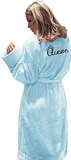Phyhrt Women's Fleece Robe Bathrobe Flannel Texture Warm Long Sleepwear
