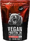 VÉGÉTALE : Protéine vegan végétale de trois composants à base de protéines et graines de pois, de chanvre et de riz de haute qualité - 21 g de protéines végétales par shake ! - Les trois sources de protéines végétales sont purifiées et traitées en pl...