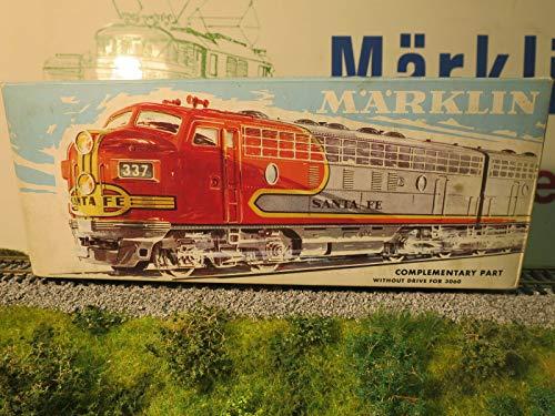 MARKLIN HO Vintage All Metal USA Diesel EMD-F7 Santa FE Dummy Locomotive W/Lights 4060.
