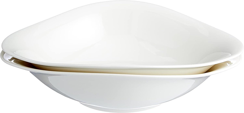 Villeroy & Boch Dune Vapiano Set de Cuencos para Pasta, Porcelana Premium, Blanco, 2-tlg