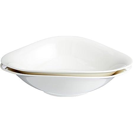 Villeroy & Boch Dune VAPIANO Ensemble d'assiettes à pâtes, 2 pièces, Porcelaine Premium, Blanc