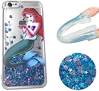 Gotech Compatible for iPhone 6 or iPhone6S, Brilliant Luxury Glitter Protective case,Bling Bling Little Mermaid Ariel Holding Logo Apple