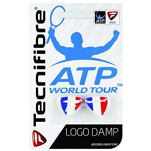 Tecnifibre Logo Damp Tennisschläger-Dämpfer – 2 Stück – Tricolore
