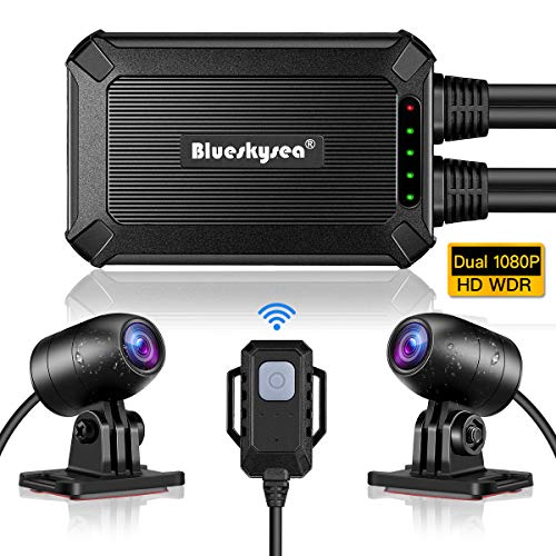Blueskysea B1M Motorcycle Dash Cam No Screen Safe Driving 135°Wide...