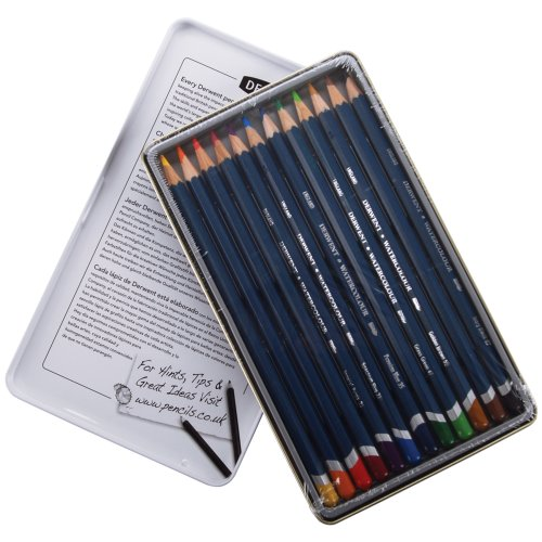 Derwent Watercolor Pencil Tin, 12-Pack