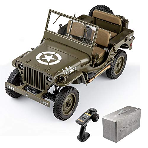 RocHobby RC Car 1/6 1941 MB Scaler Remote Control Vehicle Ready Set with Transmitter and Receiver no Batteries Charger