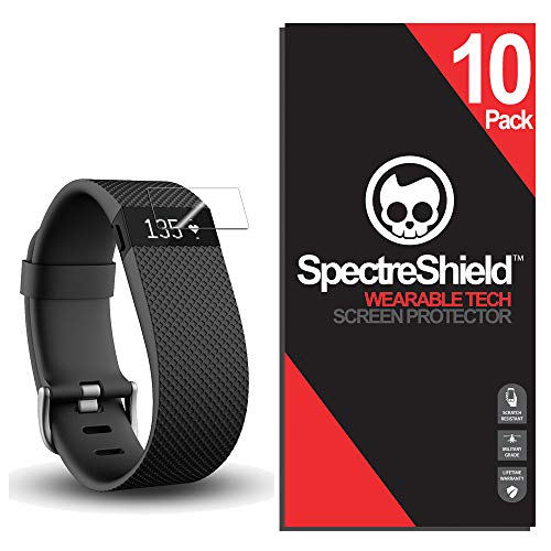 Spectre Shield (10 Pack) Screen Protector for Fitbit Charge/Charge HR Accessory Fitbit Charge/Charge HR Screen Protector Case Friendly Full Coverage Clear Film