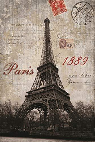 YCMXMY Puzzle 1500 Piezas, Sello De La Torre De 1889, Regalo del Día del Padre, 85X56Cm