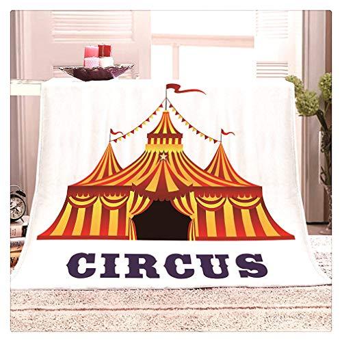 Personalizado para Niños Manta De Franela De Circo for Niños Y Adultos, Mantas De Felpa Sherpa Cálidas Súper Suaves, Mantas De Sofá De Carpa De Circo De Lujo, for Sala De Estar, Cama
