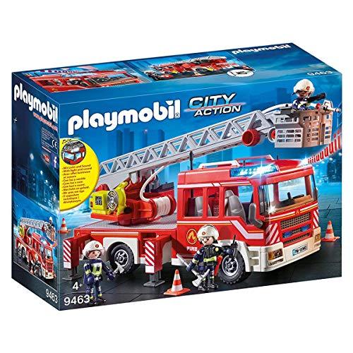 PLAYMOBIL City Action Camión de Bomberos con Escalera, Luces y Sonido, a Partir...