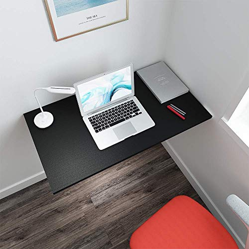 White KZHOME Wall Mounted Table Multifunctional Folding Wall-Mounted Laptop Desk Writing Table with Storage Shelves for Home Office