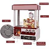 Blitzzauber24 Candy Grabber Electronique Machine Attrape à Bonbons à Jouets Automatique avec 24 Pièces Plastiques Fête Foraine Anniversaire Rouge