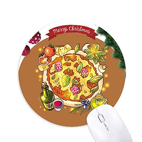 Gemüse Pizza Italien Lebensmittel Tee rund um Gummi Maus Pad Weihnachtsbaum Mat