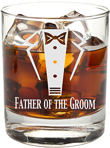 C M 23 oz. Father of the Groom and Father of the Bride Pilsner glass set