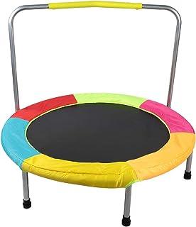 OIHODFHB För inomhus hem förskola mini vikbar studsmatta säker barn studsmatta med ledstång