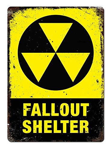 Fluse Fallout Shelter Halloween Undead Room Game Nucleare Vintage Metal Art Chic Retro Blechschild 8 x 12 Zoll Metallschilder