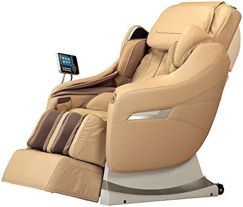Newgen Medicals Shiatsu-Massagesessel: Ganzkörper-Massagesessel GMS-200.bt (beige) (Elektrische Massagesessel)