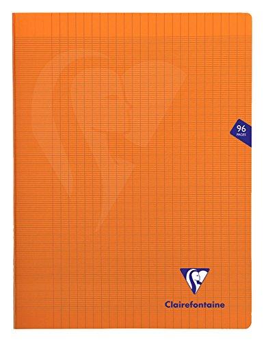 Clairefontaine Mimesys - Cuaderno grapado (A4+, 96 páginas), color naranja