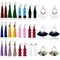 15-Pack MerryXD Colorful Drop Hook Fringe Earrings Set