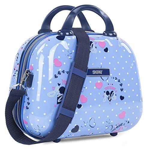 SKPAT - Neceser de Viaje Infantil Grande rígido de policarbonato Estampado. Maleta de Aseo. cómodo y con Espejo 131435, Color Azul