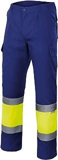 Velilla 157/C140/TS Pantalón de alta visibilidad, Azul y amarillo fluorescente, S