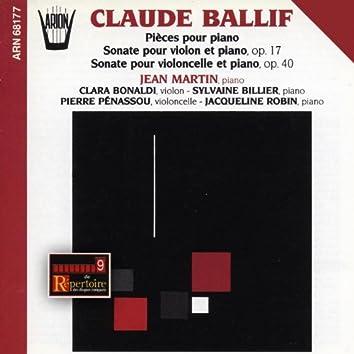 Ballif : Pièces pour piano & sonates